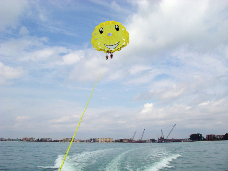Gliding through the sky on your parasail adventure