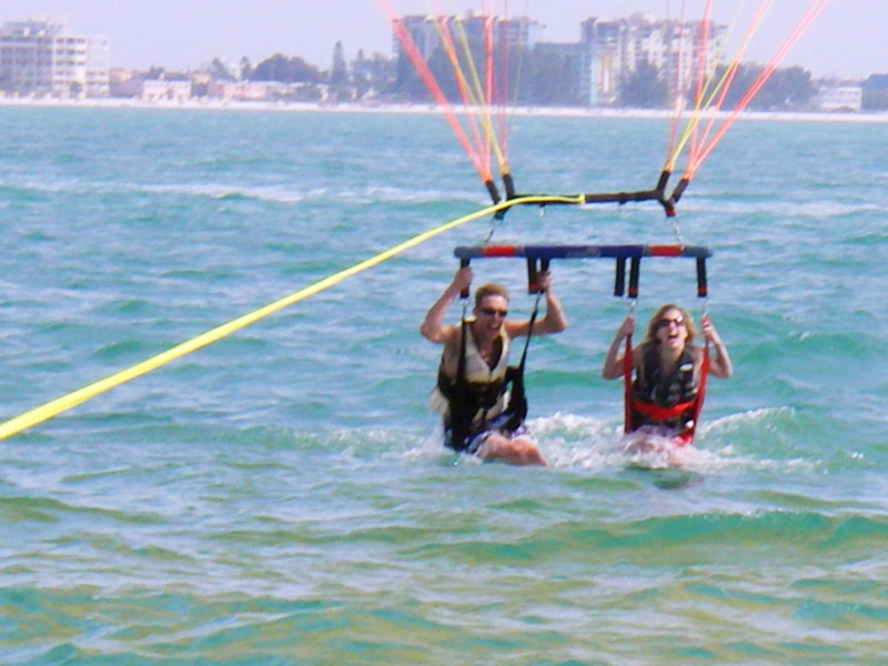 Double dipping is aloud when parasailing